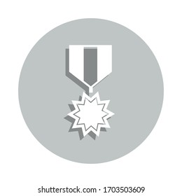 military medal badge icon. Simple glyph, flat vector of army icons for ui and ux, website or mobile application