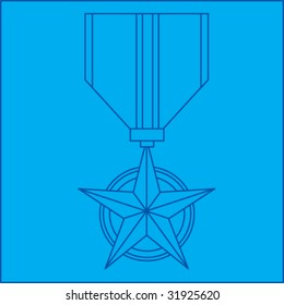 military medal blueprint