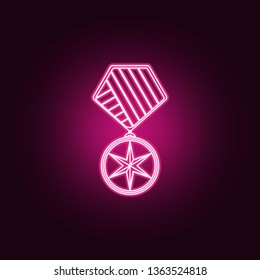 military medal icon. Elements of Sucsess and awards in neon style icons. Simple icon for websites, web design, mobile app, info graphics