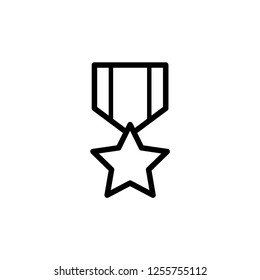 Military Medal Icon. Former Soldier Award Vector Illustration. Veterans Proudly Sign and Symbol.