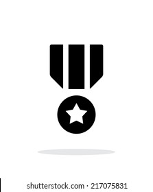 Military medal simple icon. Vector illustration.