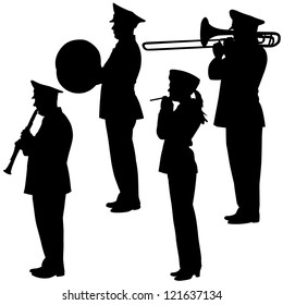 military musicians collection. Vector  illustrations.