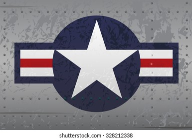 Military National Aircraft Insignia Distressed Illustration