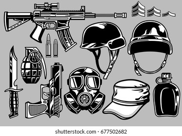 military objects set