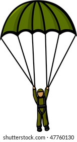 military paratrooper
