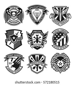 Military patch emblem badges