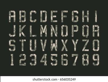 Military pixels camo font