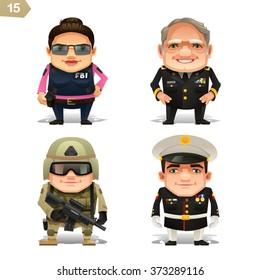 Military professions set