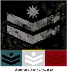 military rank army fashion graphic design
