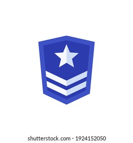 Military rank, army logo icon