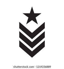 military rank icon in trendy flat design