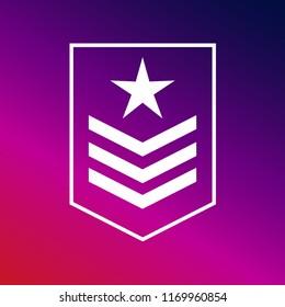 Military rank icon vector illustrator creative design purple and pink gradient background