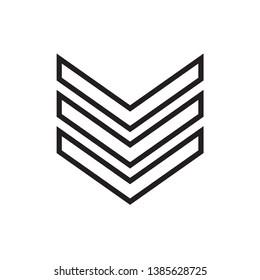 military rank illustration icon logo template