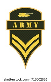 Military Ranks and Insignia. Stripes and Chevrons of Army. Corporal