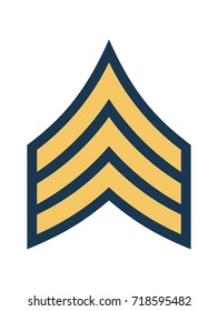 Military Ranks and Insignia. Stripes and Chevrons of Army. Sergeant