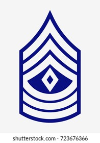 Military Ranks and Insignia. Stripes and Chevrons of Army. First Sergeant