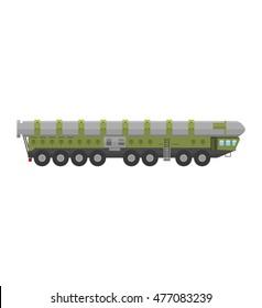 Military rocket launcher vector illustration