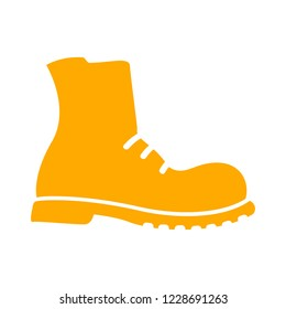 military shoes icon. Boot isolated vector icon, high shoe icon, working boot icon, men shoe