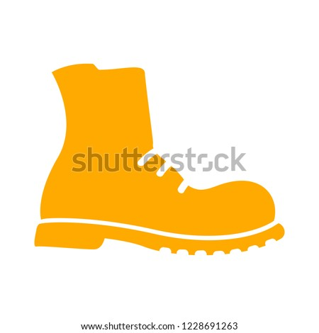 e96750253f Military Shoes Icon Boot Isolated Vector Stock Vector (Royalty Free ...