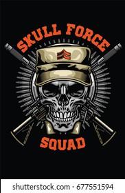 military skull design
