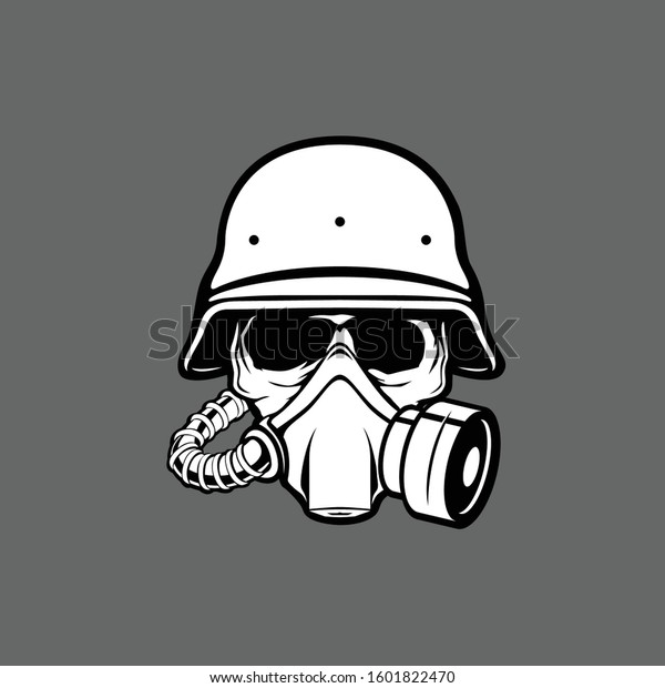 Military Skull Gas Mask Illustration Toxicity Stock Vector Royalty Free 1601822470