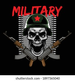 Military skull logo available for your custom project