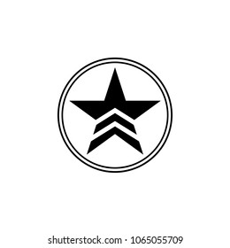 a military star in a circle icon. Element of communism illustration. Premium quality graphic design icon. Signs and symbols collection icon for websites, web design, mobile app on white background