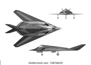 F 117 Stealth Fighter Drawing Fighter Plane Images, ...