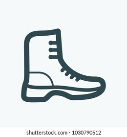 Military style shoes vector icon
