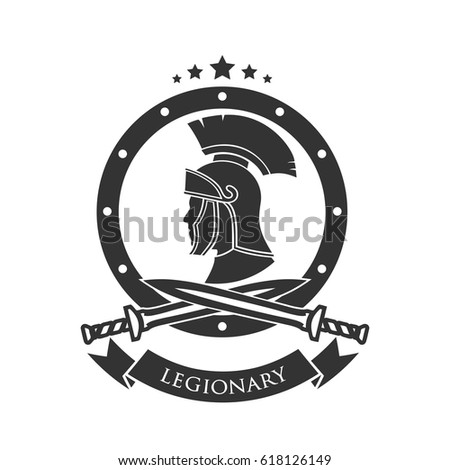 Military Symbol Legionarys Badge Stock Vector Royalty Free