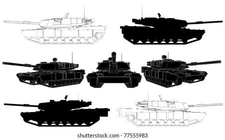 Military Tank Vector 02