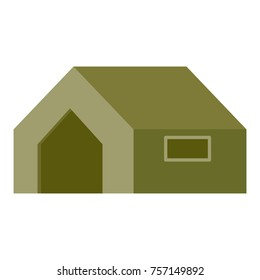 Military tent. vector illustration