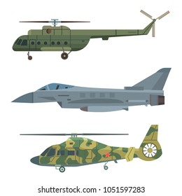 Military transport vector helicopter technic army war plane and industry armor defense transportation weapon illustration.