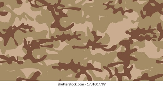 Military Tree Brush. Desert Usa Camo Paint. Camo Dirty Canvas. Modern Sand Texture. Khaki Vector Pattern. Abstract Vector Background. Autumn Sand Camouflage Seamless Paint. Repeat Woodland Camouflage.