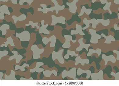 Military Tree Brush. Green Camo Paint. Camo Navy Grunge. Modern Gray Texture. Brown Vector Pattern. Woodland Vector Camoflage. Digital Gray Camouflage Seamless Paint. Hunter Abstract Background.