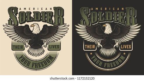 Military t-shirt print concept. Vector illustration