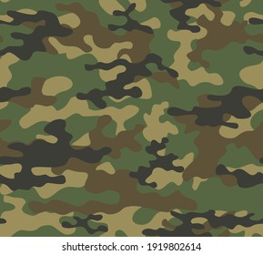 Military vector camouflage hunting background seamless print. EPS