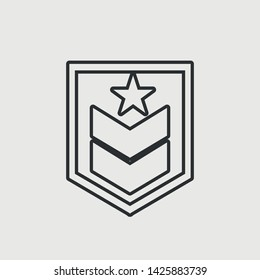 Military vector icon illustration sign
