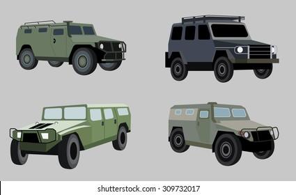 Military vehicle transportation vector image design for illustration, postcards, labels, signs, symbols and other design needs.