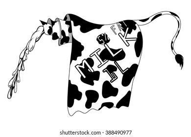 Milk bottle design. Isolated on white background