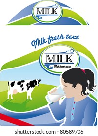 Milk bottle label packaging