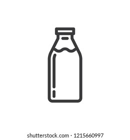 Milk bottle vector icon. Dairy,drink symbol flat vector sign isolated on white background. Simple vector illustration for graphic and web design.