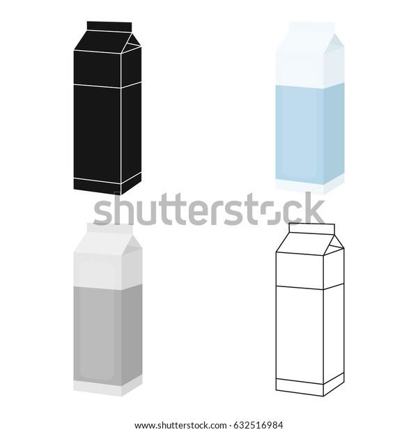 Milk box icon cartoon. Single bio, eco, organic product icon from the big milk cartoon.