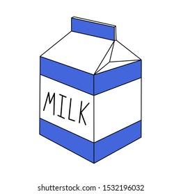Milk box vector illustration isolated on white background.