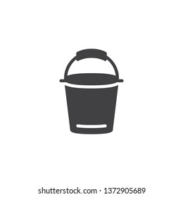 Milk bucket vector icon. filled flat sign for mobile concept and web design. milk product glyph icon. Symbol, logo illustration. Pixel perfect vector graphics