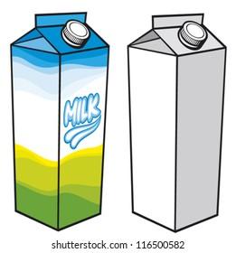 milk carton box with screw cap