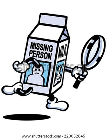 Milk Carton Missing Person Stock Vector Royalty Free 220052845