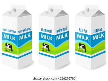 Milk carton with screw cap - vector illustration