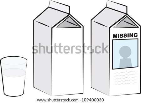 Milk Cartons And Glass Of