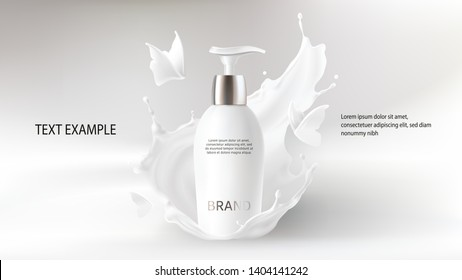 White Elegant And Graceful Home & Garden Small Body Lotion Decal Other Home Cleaning Supplies
